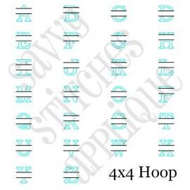 Split Alpha Applique Set